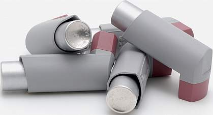 Photo of several asthma inhalers