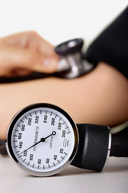 Photo of a blood pressure gauge