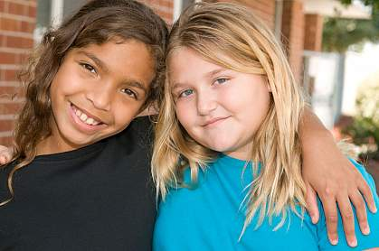 Two adolescent girls.