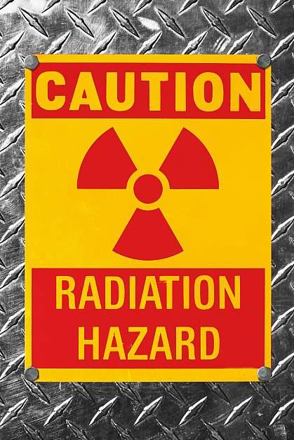 Radiation hazard sign.