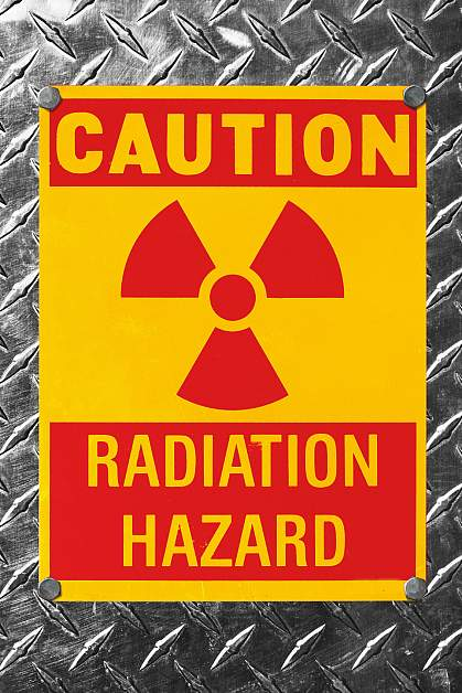 Radiation hazard sign.