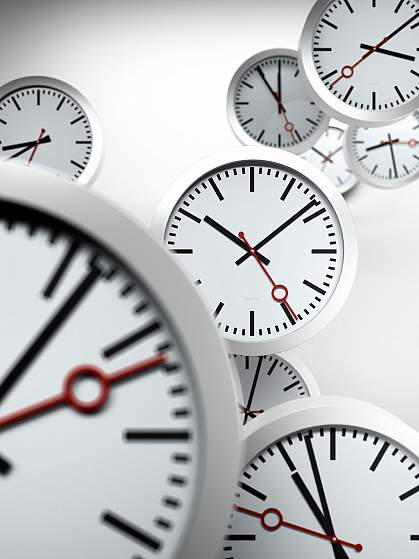 Several clocks