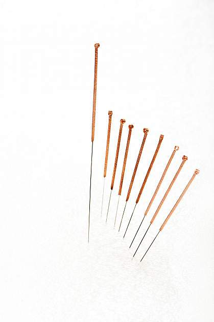 Acupuncture needles.