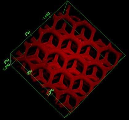 A 3-D hexagonal pattern.