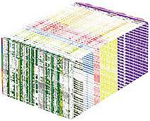 A rectangular prism made up of many color lines.