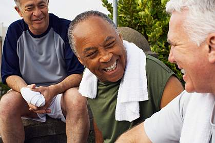 Older men socializing