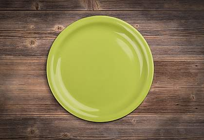Photo of an empty plate