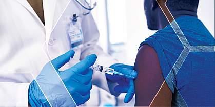 A patient receiving a vaccination