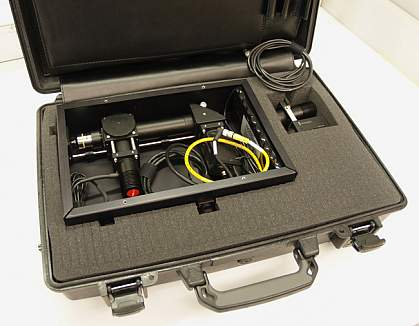Portable cancer screening briefcase.