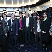NIAMS staff with Accelerating Medicines Partnership collaborators.