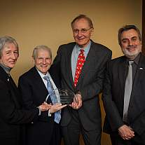 NIAMS Director Dr. Stephen I. Katz receives award from the American Society for Bone and Mineral Research.