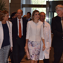 Majesty Queen Letizia of Spain with Dr. Francis Collins and Dr. John Gallin.