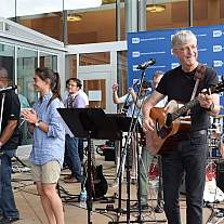 NIH Director Dr. Francis Collins performs with his band