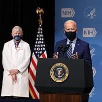 President Joe Biden gives remarks at NIH.