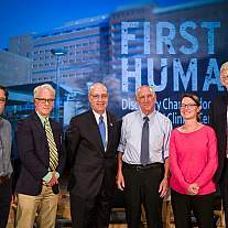 NIH hosted a screening for NIH employees of Discovery's documentary on the NIH Clinical Center, called First in Human, and held a panel discussion with people featured in the documentary