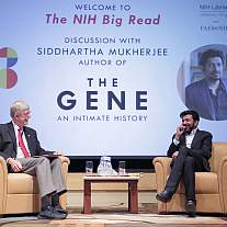 Dr. Siddhartha Mukherjee and NIH Director Dr. Francis Collins