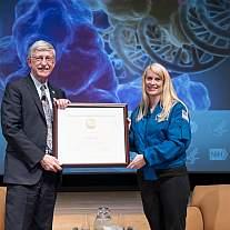 NIH Director Dr. Francis Collins and NASA Astronaut Dr. Kate Rubins