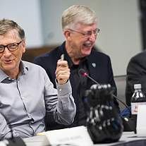 Francis Collins, Dr. Anthony Fauci meet with Bill Gates