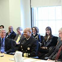 US Surgeon General Vice Admiral Jerome M. Adams visits NIH