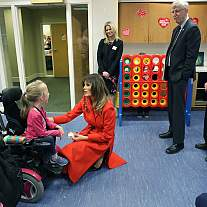 FLOTUS visits The Children's Inn at NIH