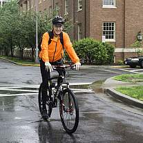 NIH Director Dr. Francis Collins participates in Bike to Work Day to help show the importance of physical activity.