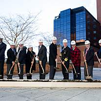 Ceremonial groundbreaking for the Center for Cellular Engineering