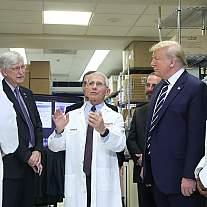 President Donald Trump visits NIH
