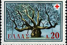Tree of Hippocrates Stamp.