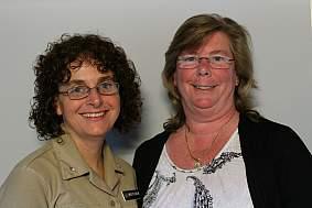 Anne Marie Matlock and Debbie Guttierez