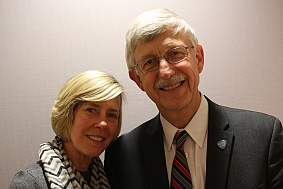 Diane Baker and Francis Collins