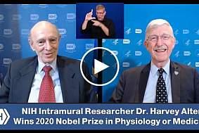 Dr. Francis Collins speaks with 2020 Nobel Prize in Physiology or Medicine winner Dr. Harvey Alter