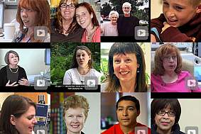 Collage of volunteers in a grid format.
