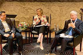 NIH Director Dr. Francis Collins joined soprano Renee Fleming and Charles Limb, M.D., the Francis A. Sooy Professor of Otolaryngology-Head and Neck Surgery at University of California,