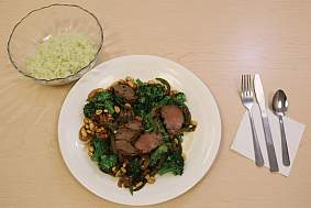 Image of dinners from each diet