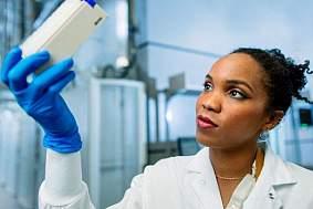 A female researcher