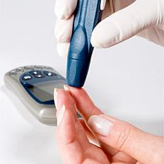Blood glucose meter for patients with diabetes.