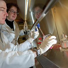 A researcher performs experiments on blood cells from patients