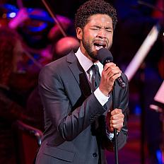 Acclaimed singer-songwriter-actor Jussie Smollett performs at the Kennedy Center during Sound Health's Music and the Mind event on June 2, 2017.