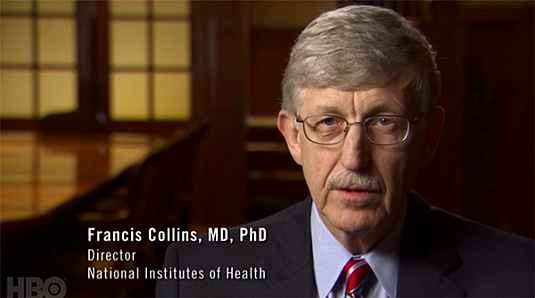 "Dr. Francis Collins speaking on the HBO's ""Weight of the Nation"" documentary."