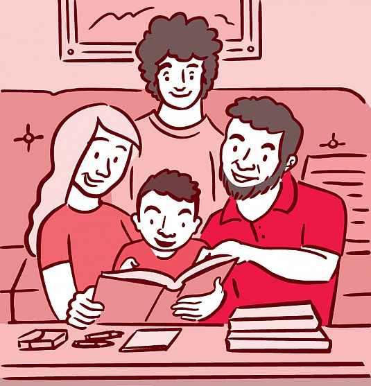 illustration-family-sofa-book