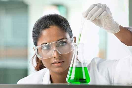 A woman researcher