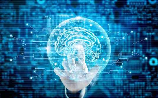 Brain and technology illustration