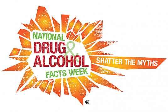 National drug & alcohol facts week logo.