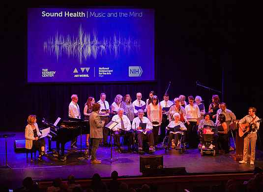 Choir of Stroke survivors sing at the Kennedy Center