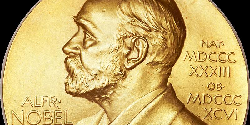 The Nobel Prize medallion, copyright Nobel Foundation.