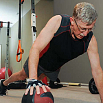 Photo of Francis Collins exercising.