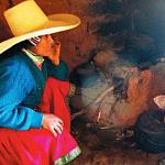 Photo of cookstove pollution in a Peruvian home.