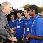 Dr. Francis Collins speaks to Duke University students