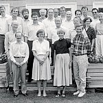 Francis Collins and others at the Banbury meeting, Cold Spring Harbor Laboratory