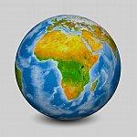 Globe focused on Africa